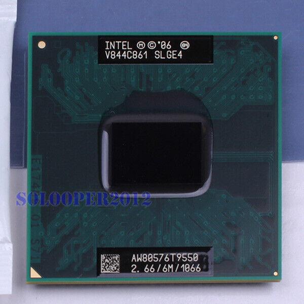 Intel Core 2 Duo T9550 SLGE4 Mobile CPU Processor 2.66Ghz 6M 1066MHz Socket P