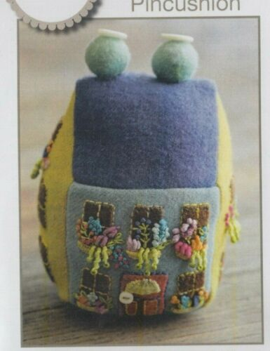 Sue Spargo Blooming Bungalow Pincushion applique /& embroidery PATTERN