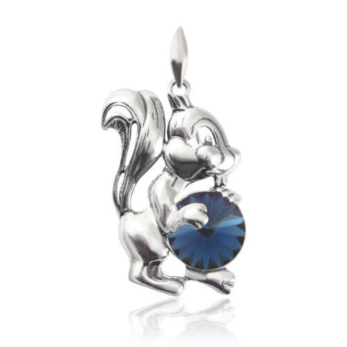 Sterling Silver écureuil pendentifs fait avec 1122 12 mm Swarovski ® cristaux