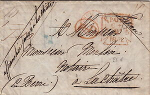 Lettre-1842-London-gt-gt-France-Cover-Brief
