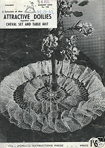 Paragon-Crochet-Book-108-Attractive-Doilies-together-with-Cheval-Set-amp-Table-Mat