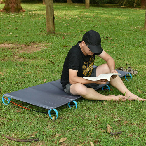 Aluminum Alloy Outdoor Portable Military Folding Camping Cot Bed Mat Hiking V1W0