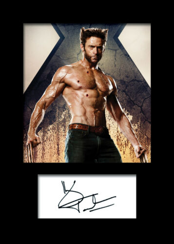 FREE DELIVERY HUGH JACKMAN #2 A5 Signed Mounted Photo Print