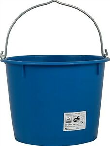 baueimer eimer kunststoffeimer 20 liter schwer verst rkt kranbar blau ebay. Black Bedroom Furniture Sets. Home Design Ideas