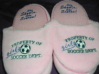 Soccer Slip On Slippers Pink Ladies