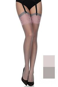 Bas-femme-voile-nylon-Fiore-Pour-porte-jarretelles-Blush-20-den