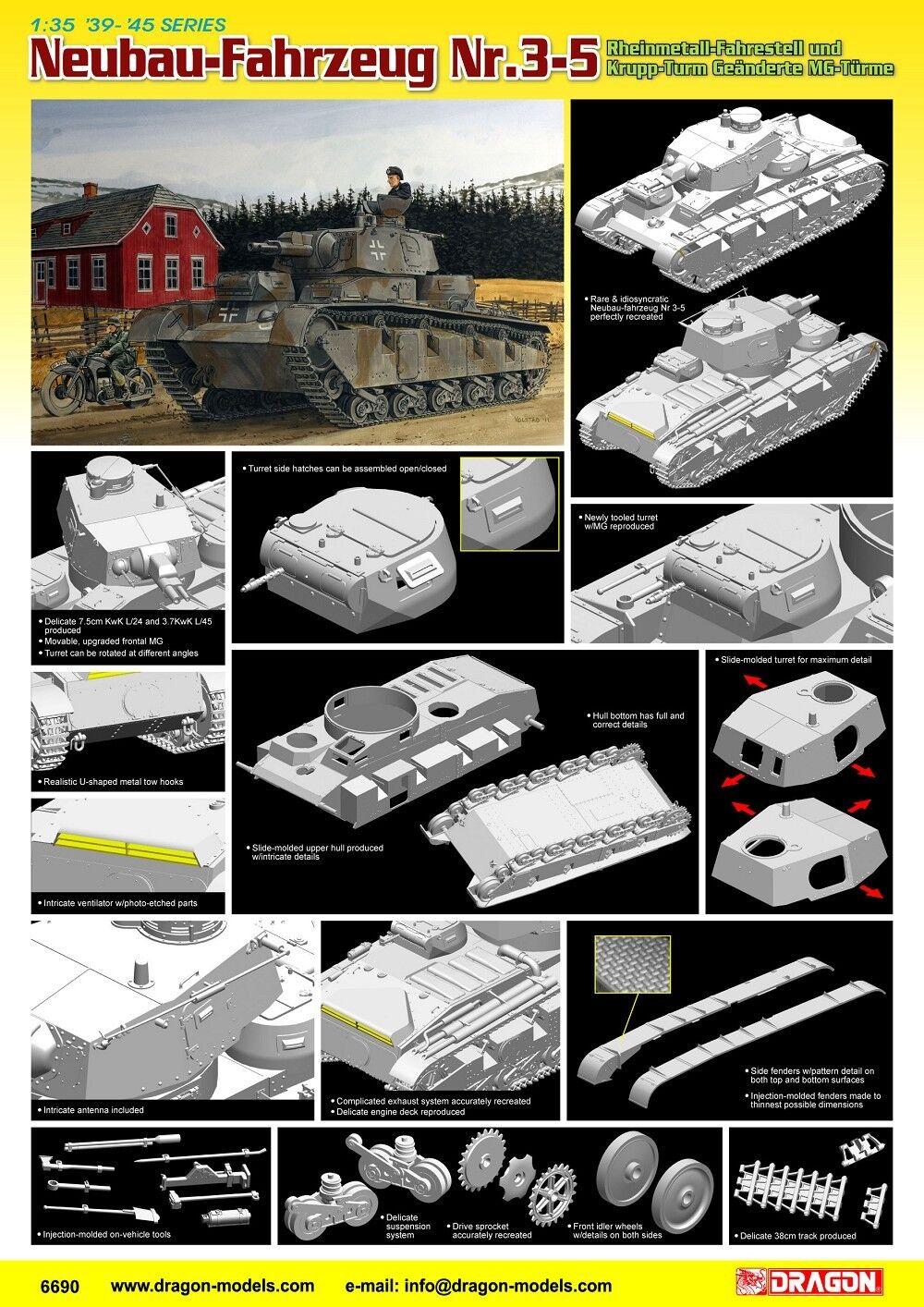 Dragon 1 35 Neuba Fahrzeug Nr.3-5 Plastic Model Kit