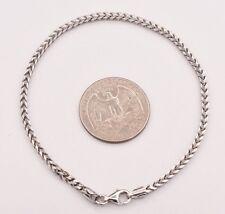 "8"" Franco Unisex Men's Chain Bracelet Italy Sterling Silver 925 Lobster Claw"