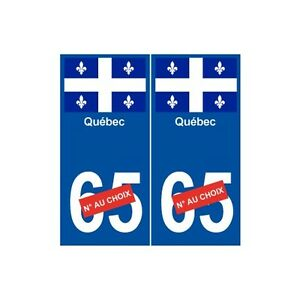Quebec-numero-au-choix-ville-monde-sticker-autocollant-plaque-arrondis