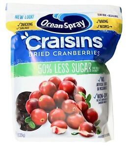 Less Sugar Dried Cranberries Resealable