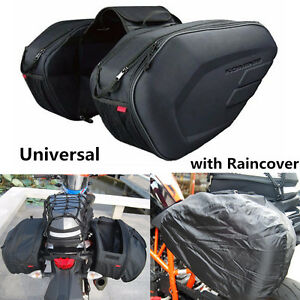 Image Is Loading Universal Motorcycle Saddle Bags Luggage Pannier 36