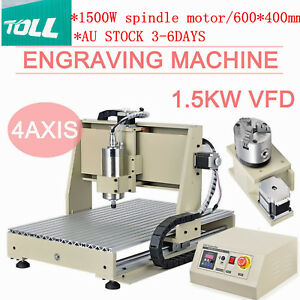 4Axis 6040 CNC Router Engraver 1500W Desktop Engraving Milling DrillING Machine