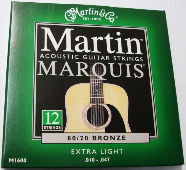 Bronze 80//20 light 012-054 MARTIN GITARRENSAITEN für Akustikgitarre M140