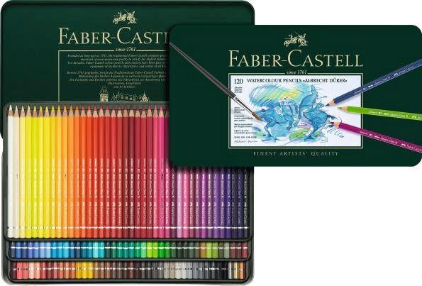 Buntstifte Faber-Castell Aquarell 120 COLOURS Colourot pencils 117511 | Moderne Muster  | Stabile Qualität  | Wirtschaft