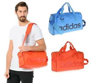 New-adidas-Linear-Mini-Team-Bag-Holdall-Blue-Orange-sport-gym-swimming-training