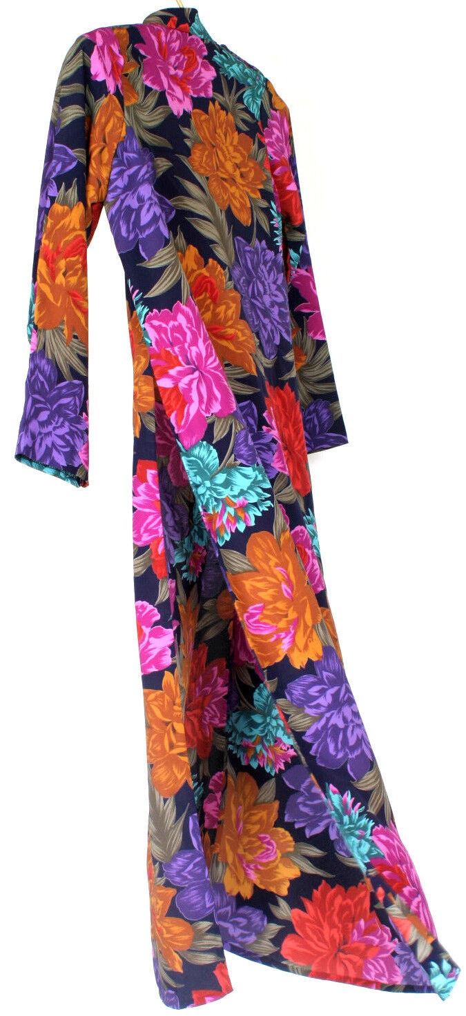 Handmade Original Vibrant Floral Pattern Vietnamese Vietnamese Vietnamese Traditional Ao Dai Dress 51ee25