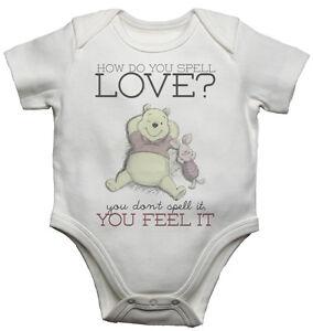 How Do You Deletreo Amor Bonito Winnie The Pooh Texto Body De Bebé