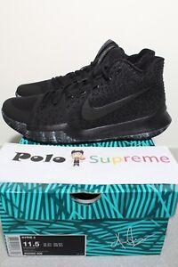 buy online f6208 2fe1a Image is loading Nike-Kyrie-3-Marble-852395-005-Triple-Black-