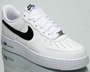 Nike Air Force 1'07 AN20 Homme Noir Blanc Athlétique Lifestyle Baskets Chaussures