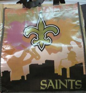 pretty nice 2131c c9d46 Details about NFL New Orleans Saints NFL Shopping Bag 2 Pack 12
