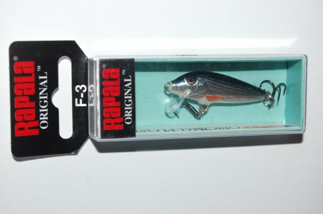 Lot of 3 Fishing Lures 3 Rapala Floating Minnows F-7 Jerkbaits Silver