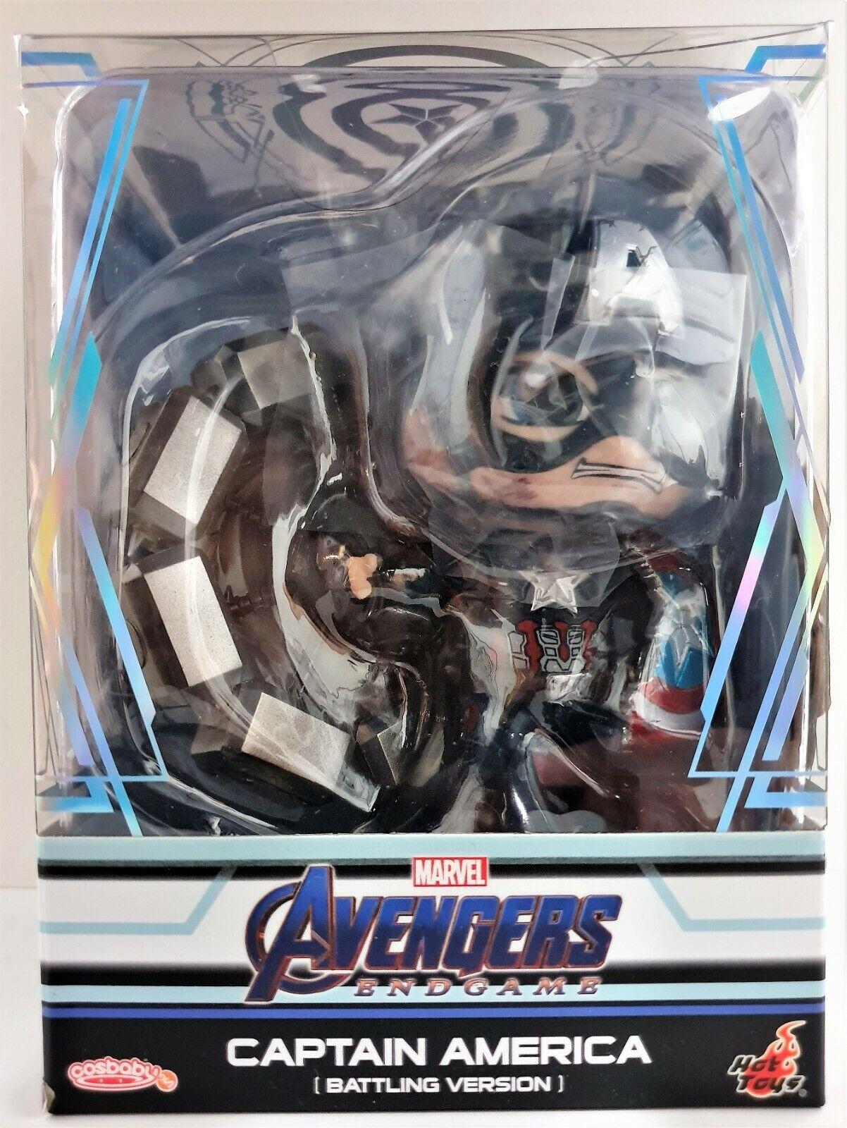 Cosbaby Capitán América Tacho luchando 3.75  Hot Juguetes Bobble Head Figura