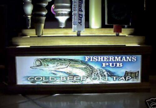 FISHERMANS  PUB 7 beer tap handle display BASS FISH BAR SIGN REMOTECONTROL