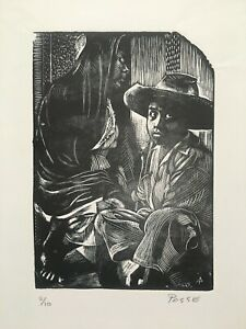 Engraving by Armando Posse, Untitled, Original Signed, numbered. Cuba