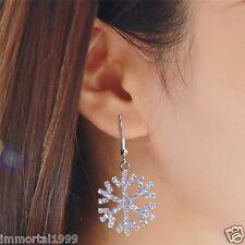 Boucles d'oreille Flocon de neige 2,7 cm