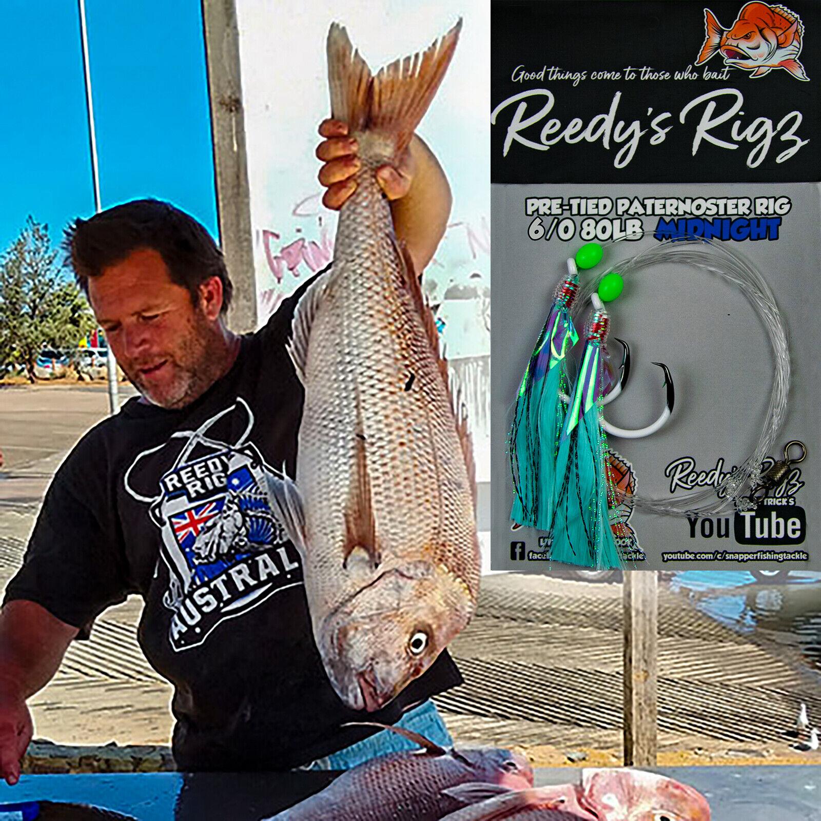 4x Snapper Fishing Rig 6 0 Ultra Rig Uv Flasher Rigs 80lb Leader Paternoster