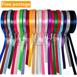 25-Yards-1-4-034-6mm-wide-Satin-Ribbon-Roll-Bow-Wedding-Party-Craft-Decorations