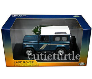 Universal-Hobbies-Land-Rover-Defender-90-Station-Wagon-1-18-Diecast-Blue-UH3886