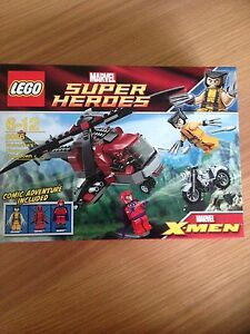 LEGO-Marvel-Super-Heroes-NEW-amp-SEALED-Wolverine-039-s-Chopper-Showdown-6866