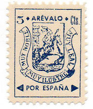 Sello Local Guerra Civil Arevalo -Cat. Galvez 71.  ORD:1336