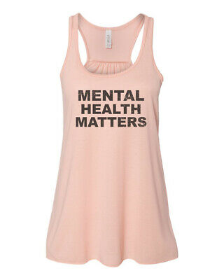 Mental Health Matters Inspirational Motivational Tee Yoga Racerback Tank Meditation Floral Brain Spiritual Shirt Zen Namaste
