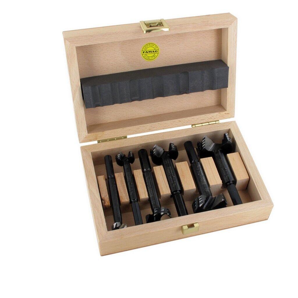 Famag Forstnerbohrer Astlochbohrer Holzbohrer Bormax 6tlg 15 20 25 30 35 40 mm