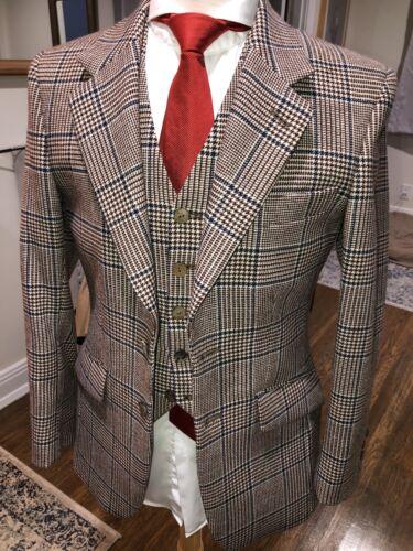 Gorgeous Bespoke Tweed 3pc Suit 36/38