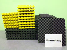 """Studio Acoustic Soundproofing 2"""" Pyramid Foam (REMNANT) Yellow"""