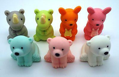 Iwako Animal Japanese Zoo Animals Stationery Eraser one Eraser - Random