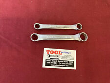 Vintage Craftsman Vv Series 2pc Stubby Box End Wrench Set 43861 Amp 43862