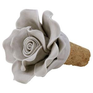 GreenGate-Dk-Ceramic-Flower-Wine-Stopper-in-Pale-Grey