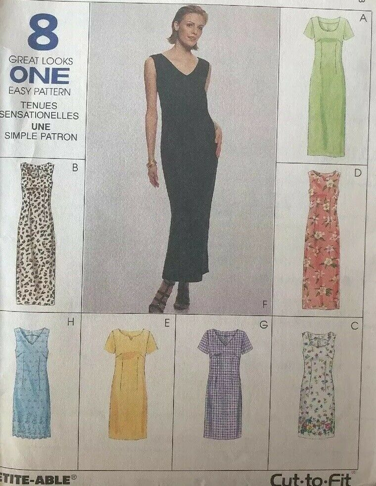 12   Sewing Pattern McCall/'s 8518 Misses/' Dress in Two Lengths 8 10