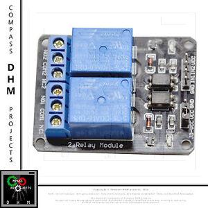 Modulo relè 2 canali 5V DC - 250 V AC modello SRD-05VDC-SL-C relay