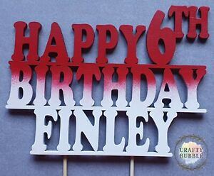 039-Happy-ANY-AGE-Birthday-ANY-NAME-039-Cake-topper-any-colour-WOODEN-PERSONALISED