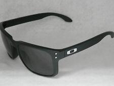*NEW* OAKLEY HOLBROOK OO9102-01 MATTE BLACK W/ WARM GREY LENS