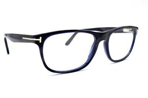 NEW-TOM-FORD-TF5430-064-BLUE-GREY-HORN-AUTHENTIC-EYEGLASSES-FRAME-RX-56-17-30T
