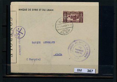 Bm0367, Syrien, Brief, 1944, Aleppo - Adana (türkei) Mit Zensurstempel Kaufen Sie Immer Gut