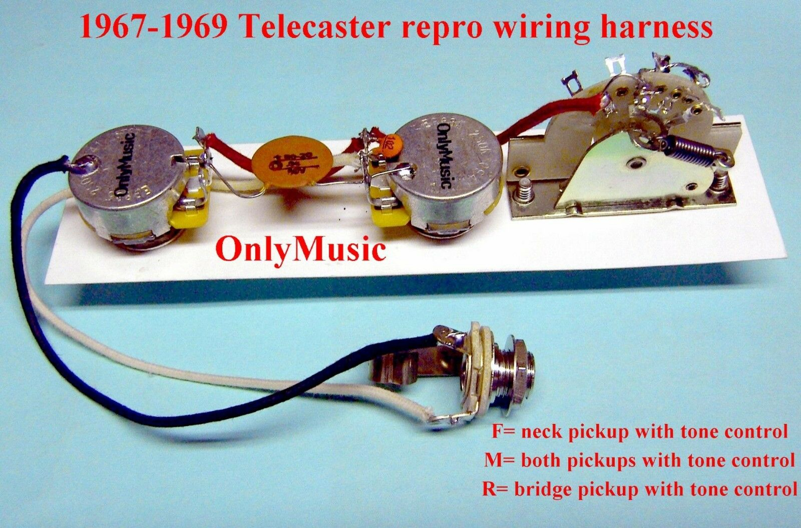 COMPATIBLE TO FENDER TELECASTER 1967 1969 REPRODUCTION VINTAGE WIRING HARNESS