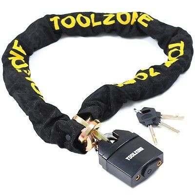 Bike Heavy Duty 1.1m Chain with Padlock for Motorcycle Motorbike Security Lock