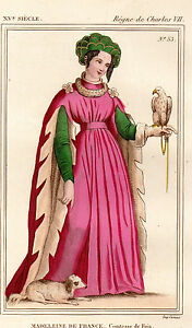 Raisonnable Costume De La France Xve Siècle / Madeleine De France